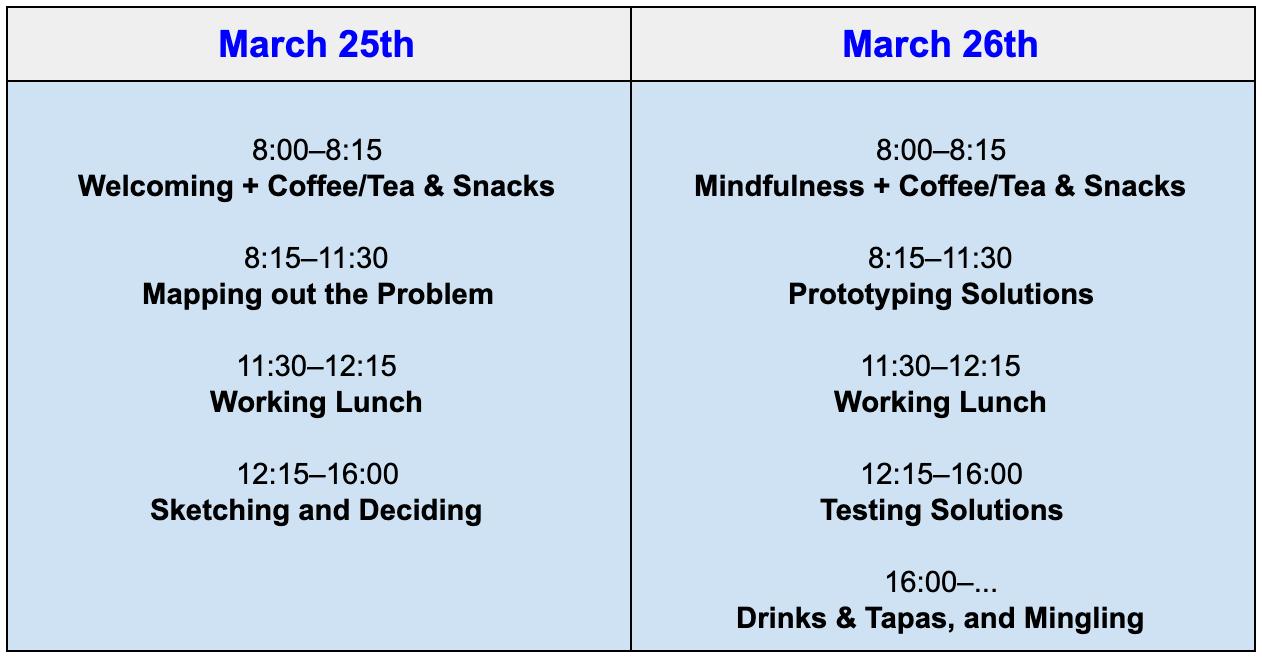 Bootcamp Schedule in Bergen