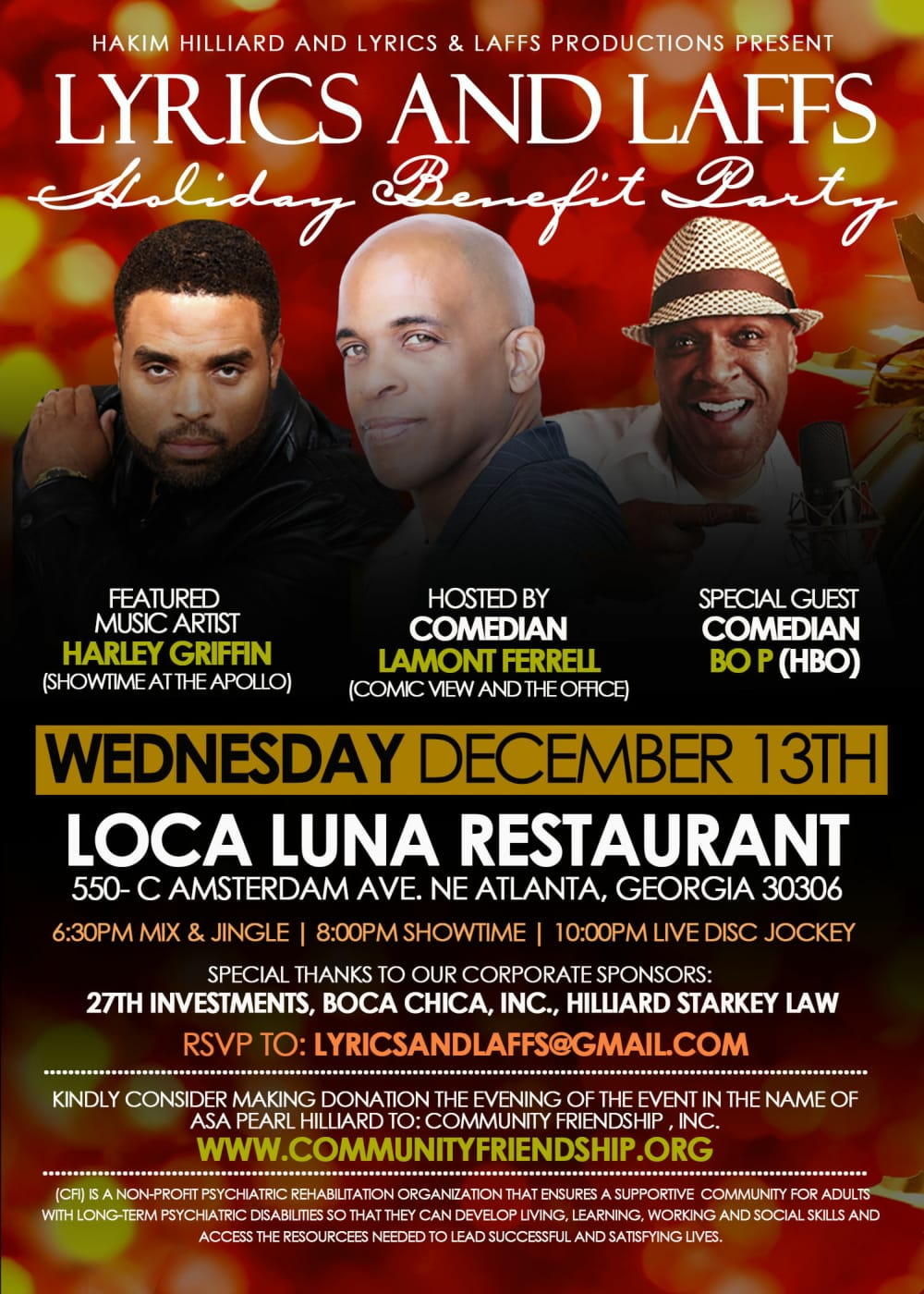 Come Party For A Cause At Loca Luna Restaurant! While You Enjoy The Comedy  And Live Music, Consider Making A Donation In The Name Of Asa Pearl  Hilliard To ...