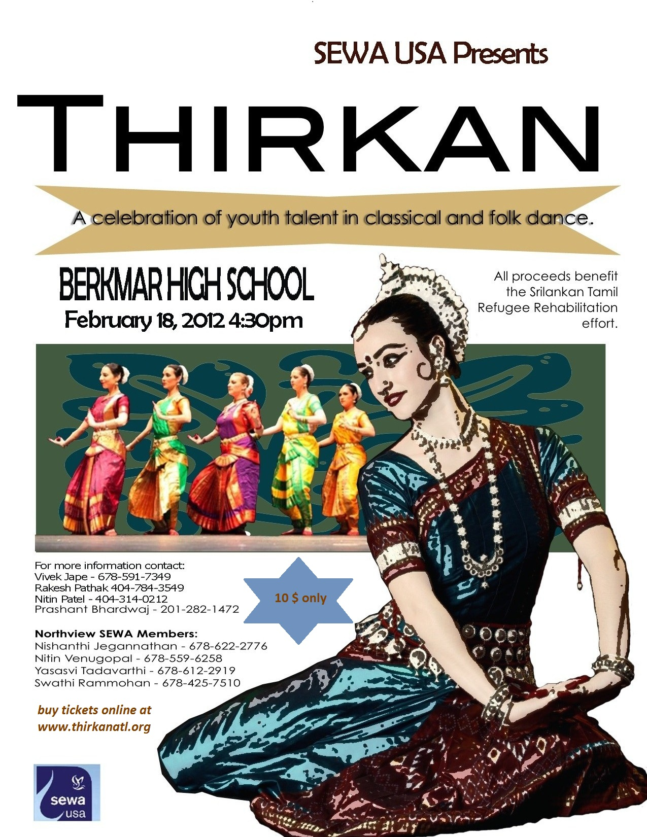 Thirkan Atlanta 2012 Indian Classical and Folk Dance Festival