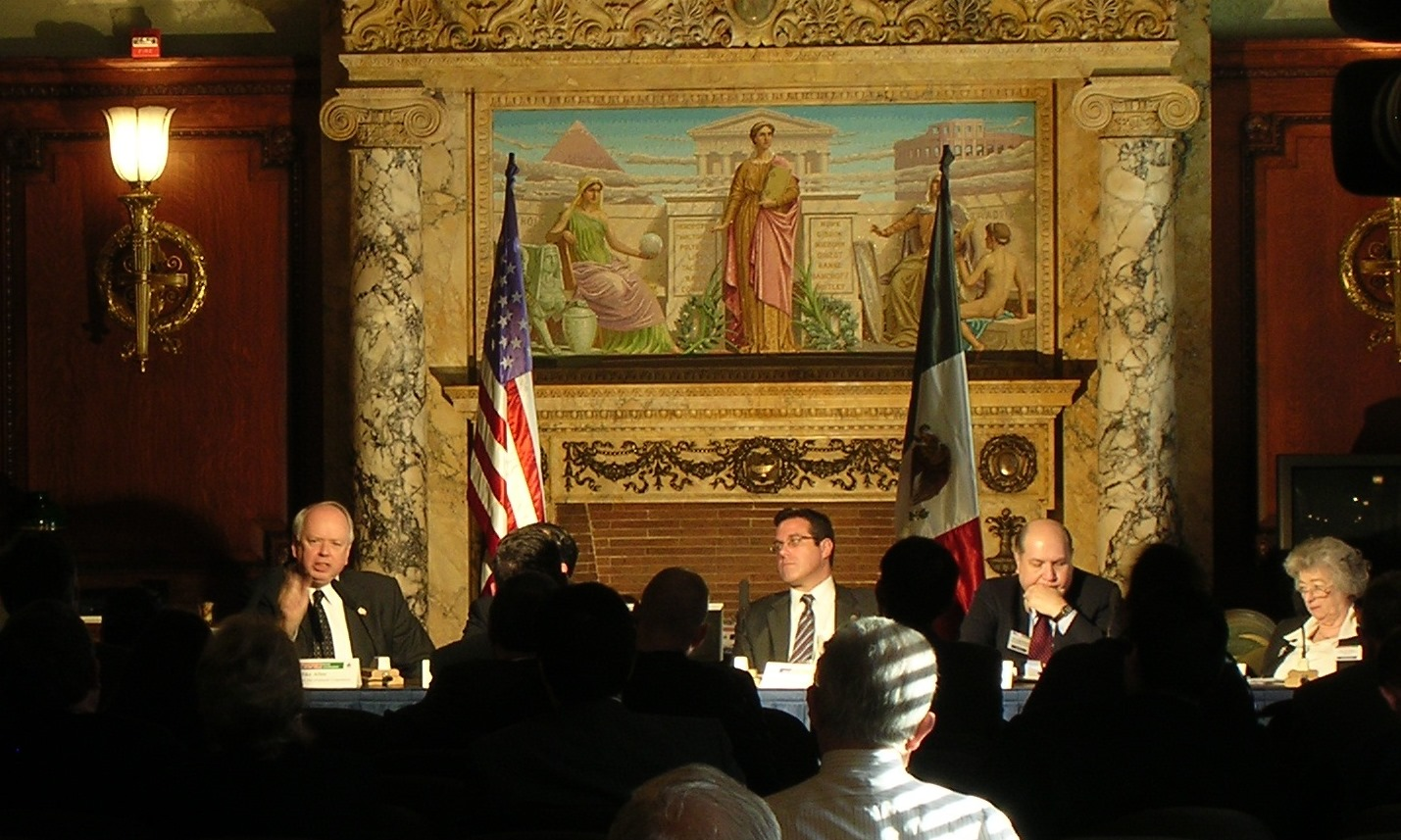 Conference panel in the Library of Congress