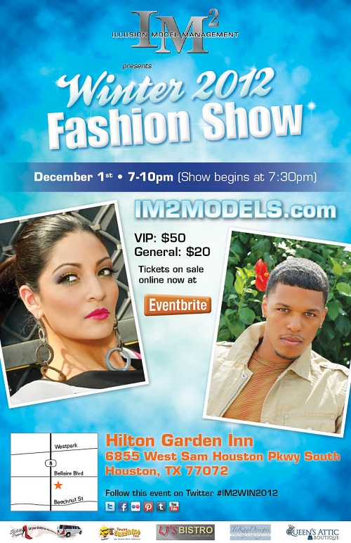 Illusion Model Management's Winter 2012 Fashion Show Flyer