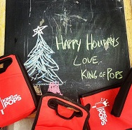 Holiday flavor King of Pops! Free! Eggnog, Gingerbread, Apple Cider & Chocolate Peppermint