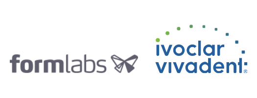Formlabs and Ivoclar Vivadent logos