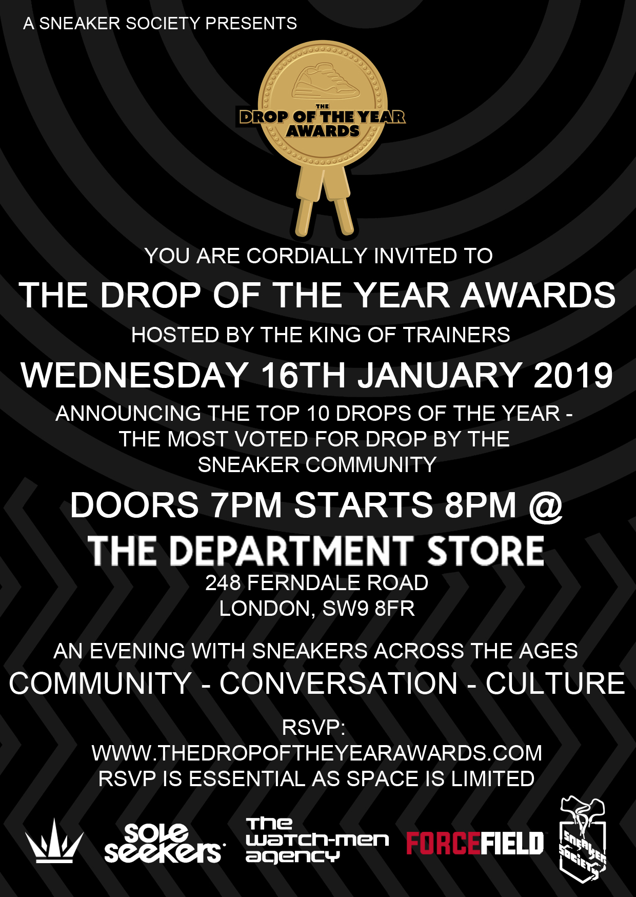 The Drop Of The Year Awards Flyer 2019