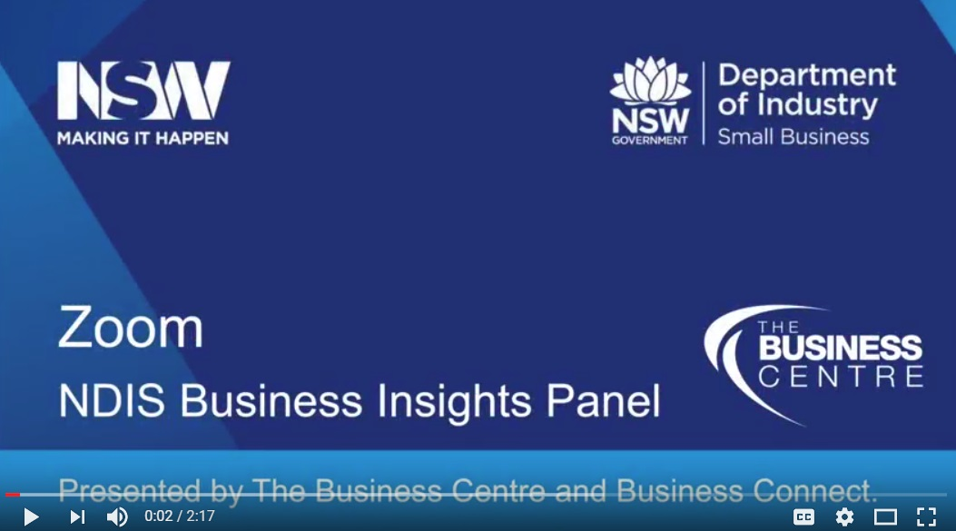 Zoom - NDIS Business Insights Panel Event