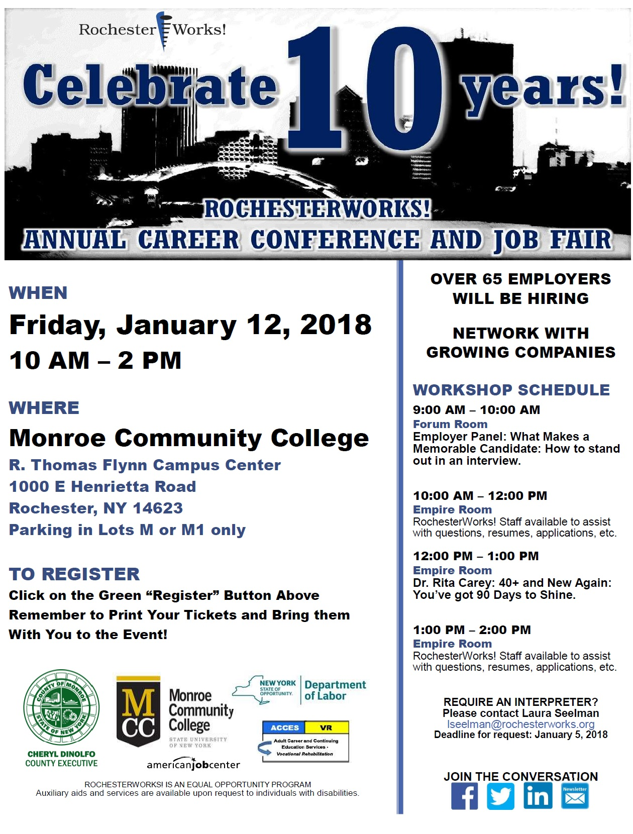 10th annual rochesterworks career conference job fair tickets event details xflitez Image collections