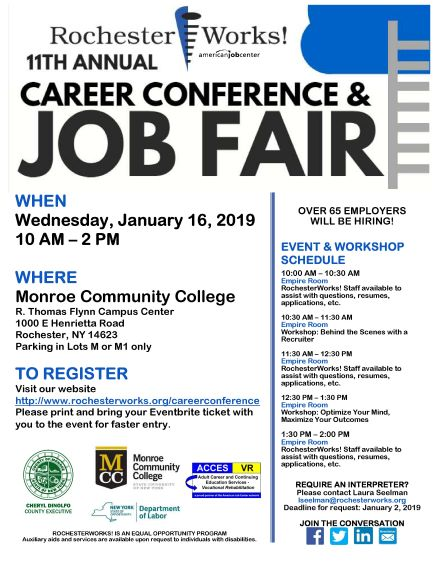 Career Conference 2019 Flyer