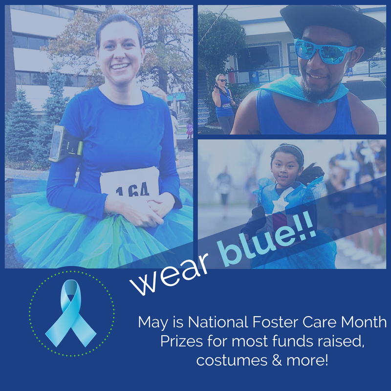 Wear Blue for National Foster Care Month