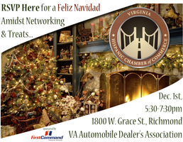 "The VAHCC ""Feliz Navidad"" Mixer sponsored by First Command"