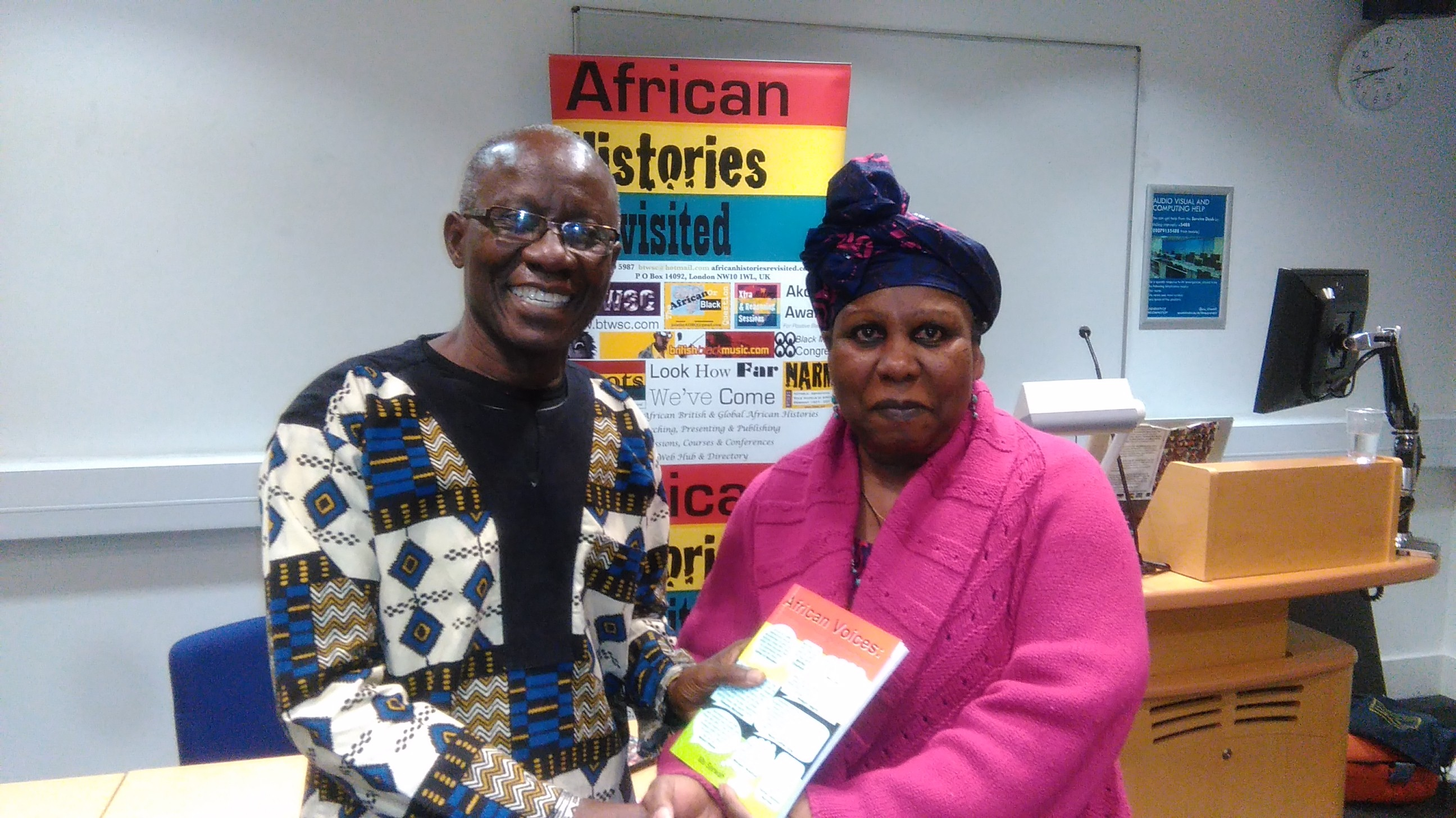 Anma Gueye presents African Voices to Addai Sebo