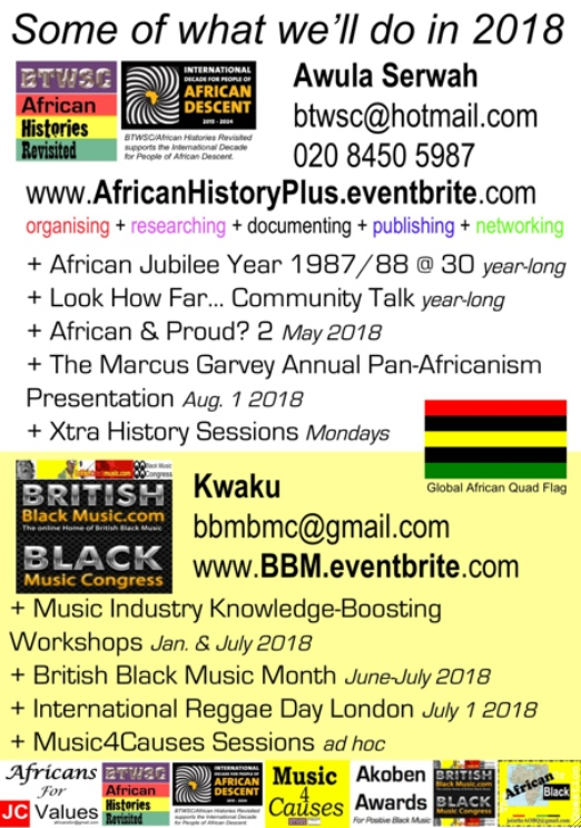 BTWSC/African Histories Revisited BBM 2018 Programme