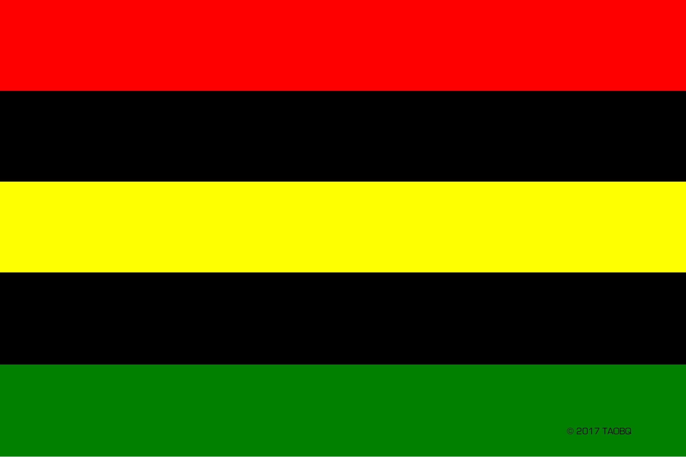 Global African Quad Flag
