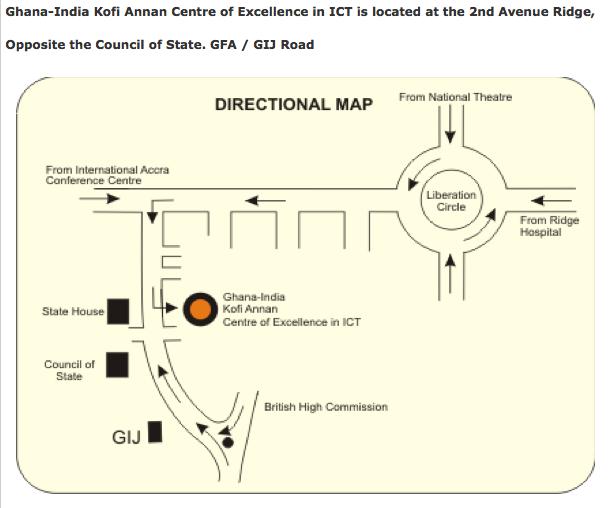 Kofi Annan ICT Centre Accra map