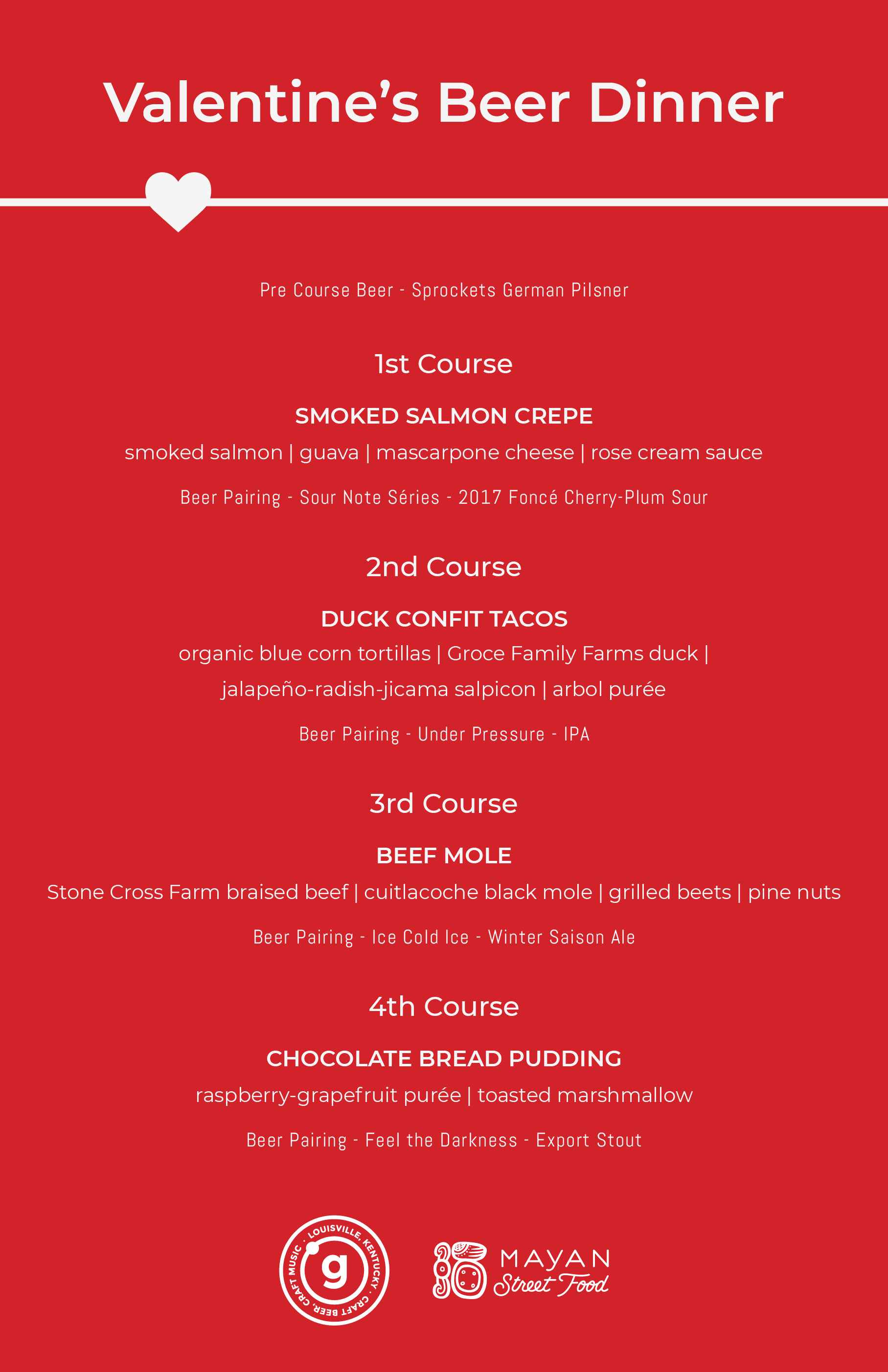 Valentine's Day Beer Dinner