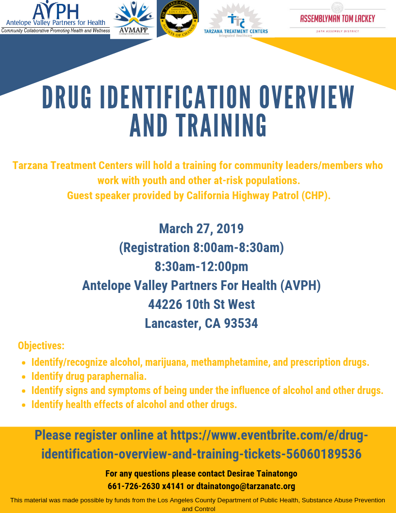 Drug ID Overview Training Flyer