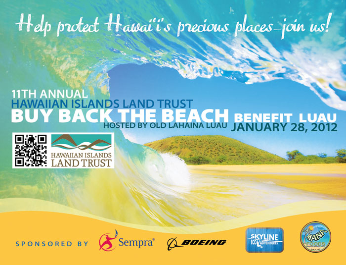 Hawaiian Islands Land Trust Buy Back the Beach Benefit Luau at Old Lahaina Luau, January 28, 2012