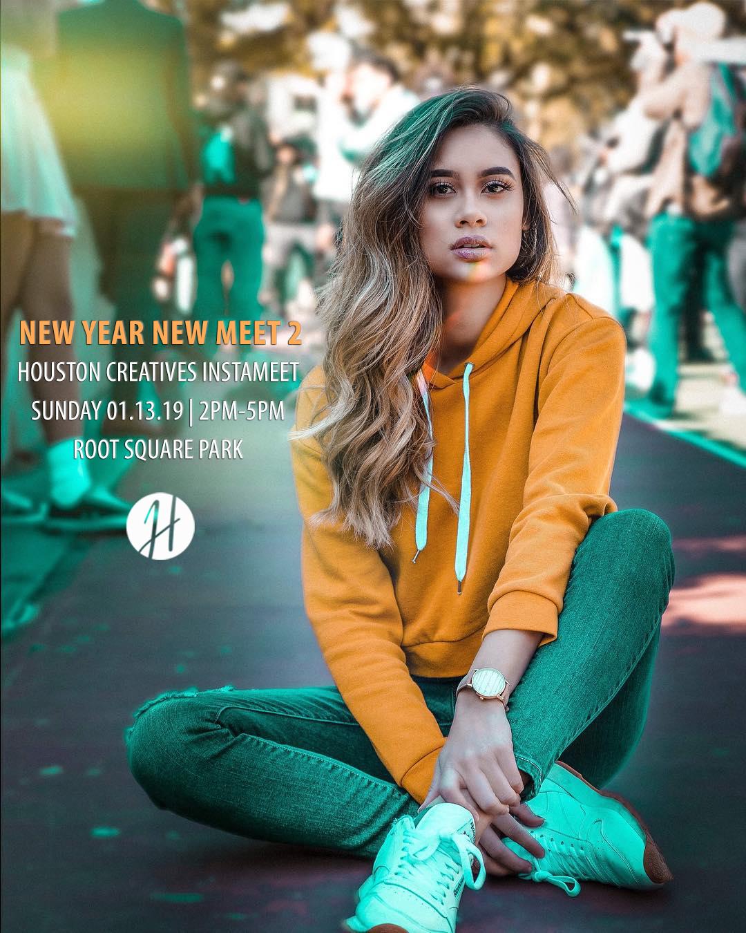 Houston Visuals New Year New Meet 2 Flyer