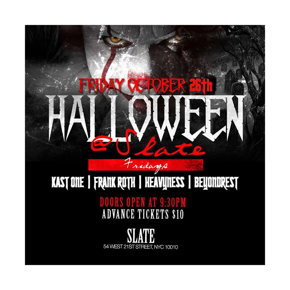sold out friday haunted halloween party @ slate (clubfix parties