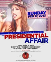 TONIGHT PRESIDENTIAL AFFAIR PARTY AT KATRA LOUNGE FREE BEFOR...