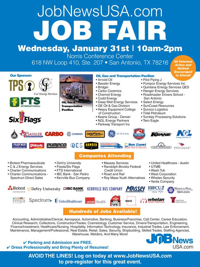 JobNewsUSA.com San Antonio Job Fair | San Antonio, TX