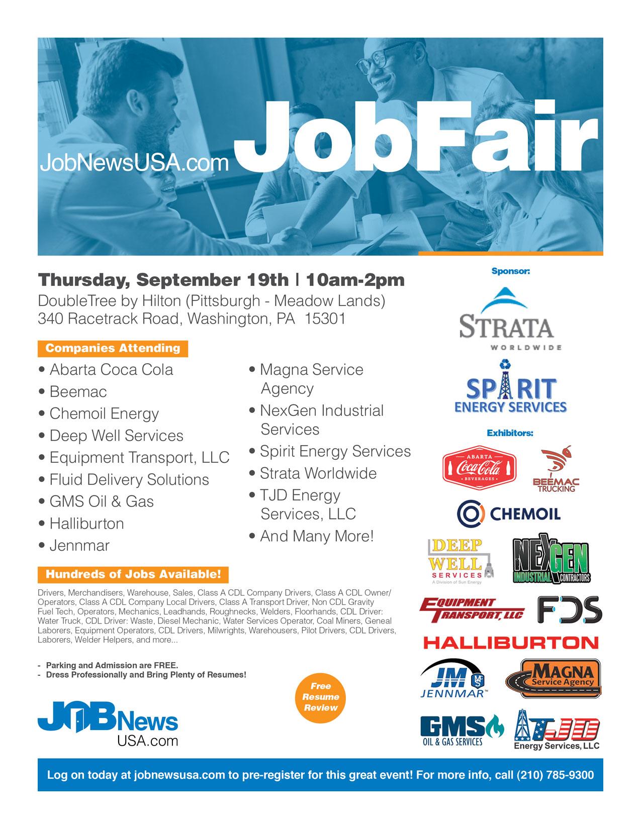 JobNewsUSA com Washington, PA Energy & Transportation Job