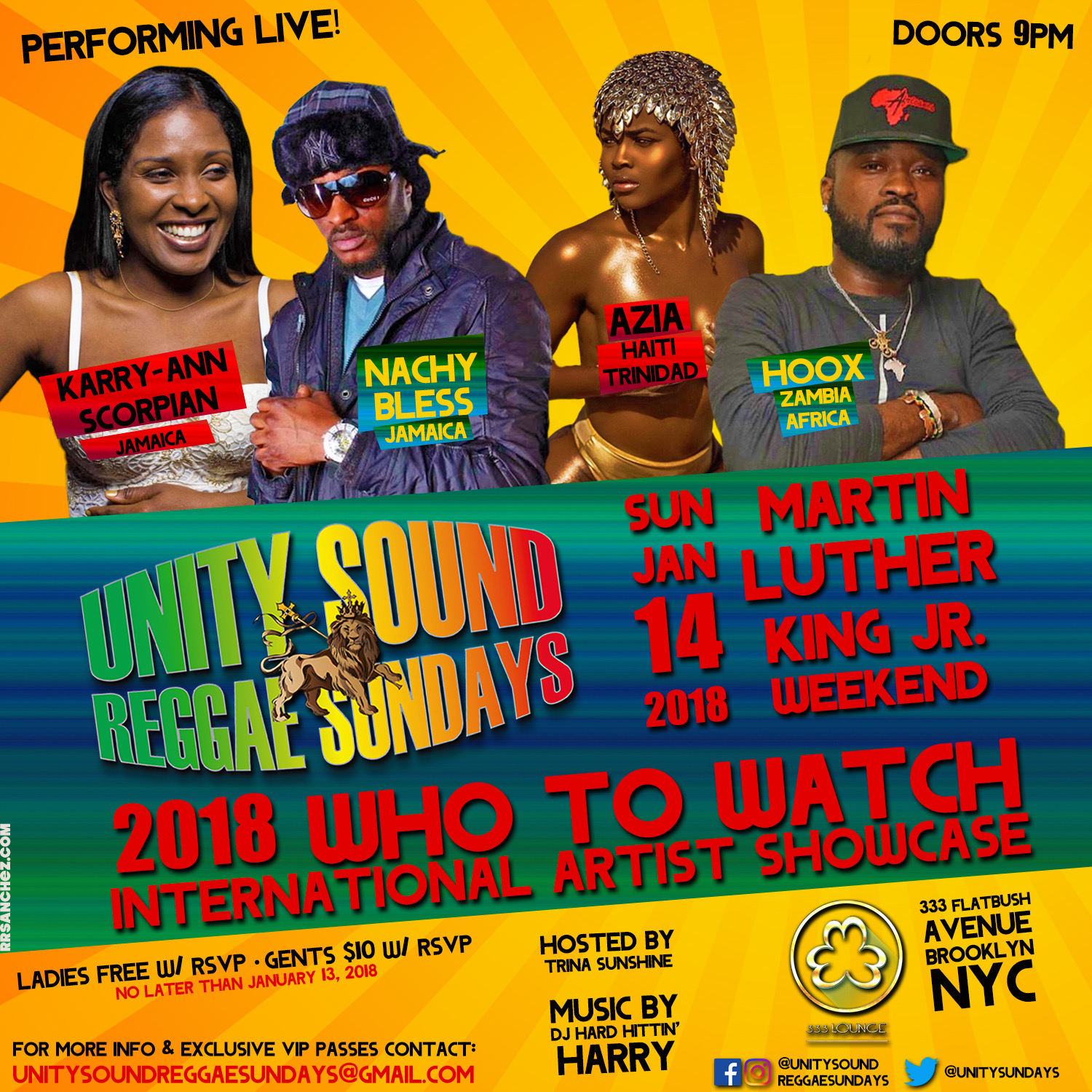 Unity Sound Reggae Sundays 2018