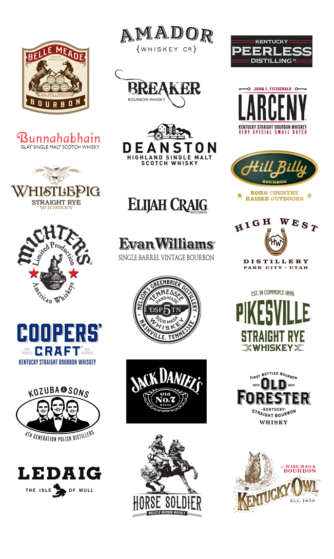 whiskey brands participating