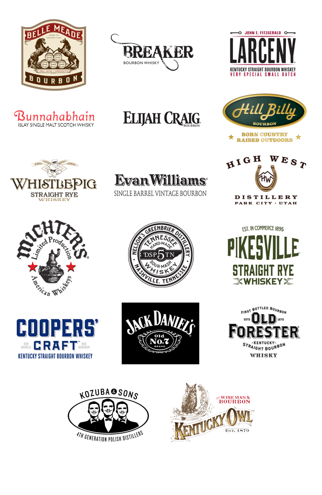Whiskey Brands Logo List