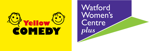 Watford Womens Centre Plus and Yellow Comedy logos