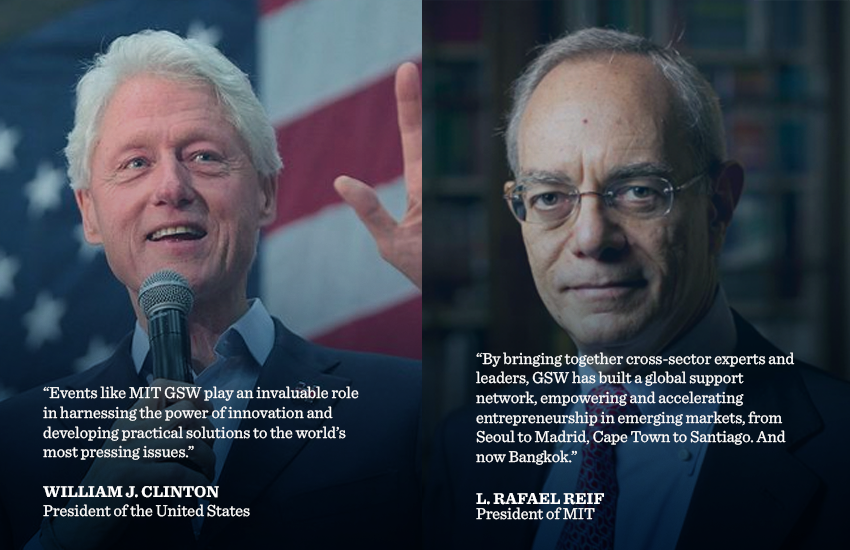 Bill Clinton and Rafael Reif support MIT GSW
