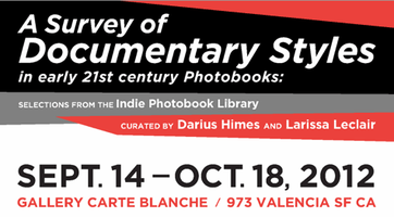 The Indie Photobook Library at Gallery Carte Blanche