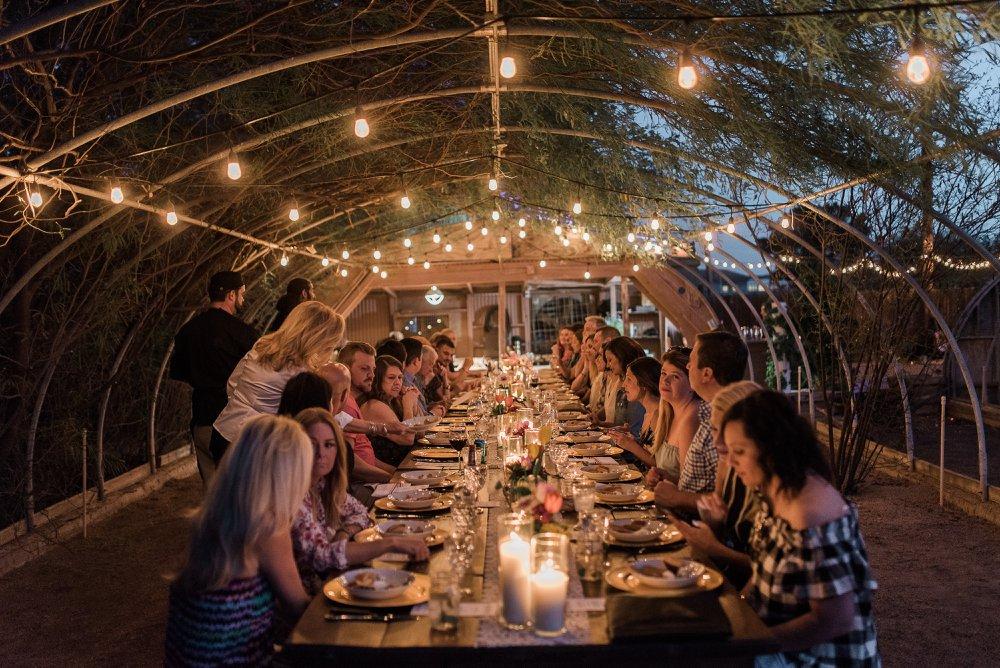 Harvest Dining under Hoop House