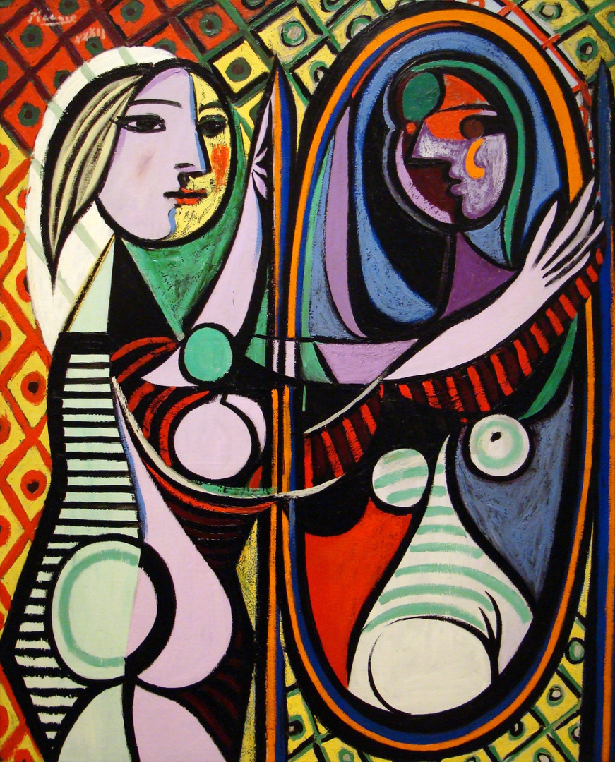 Girl Before a Mirror painting by Pablo Picasso