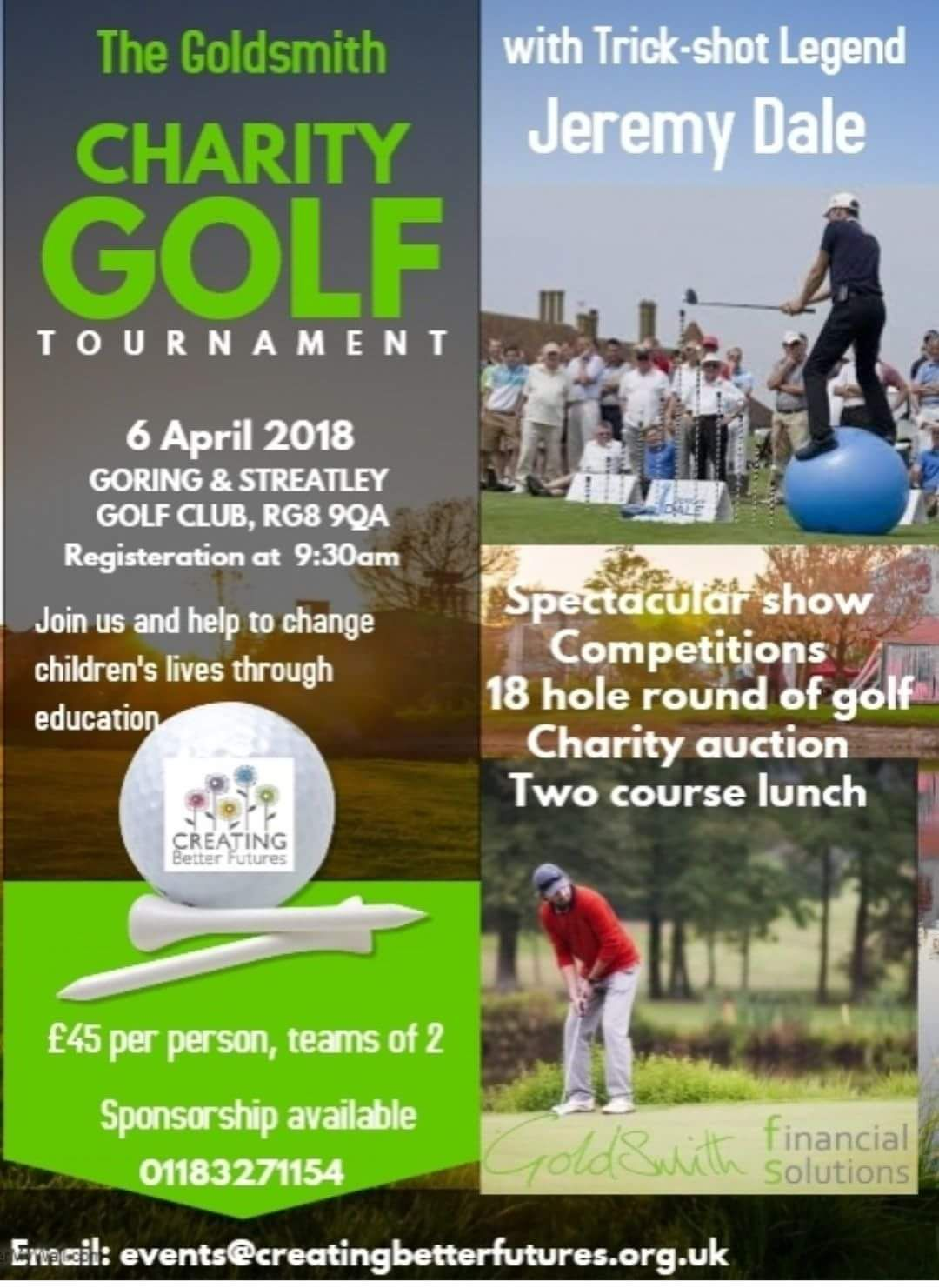 Goldsmith Charity Golf Day Poster