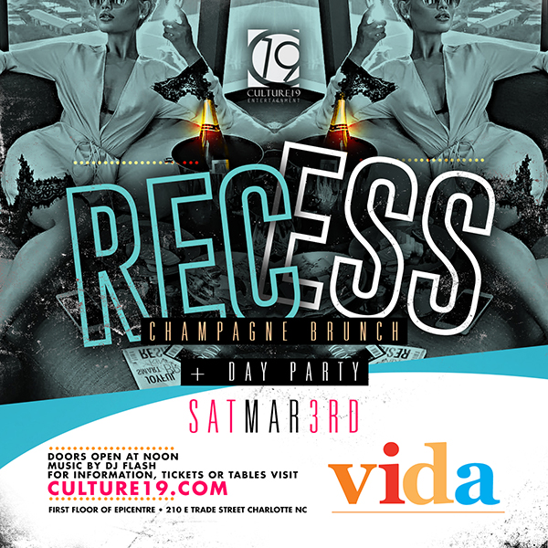 recess champagne brunch dayparty flyer