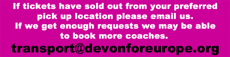 Waitlist - email transport@devonforeurope.org