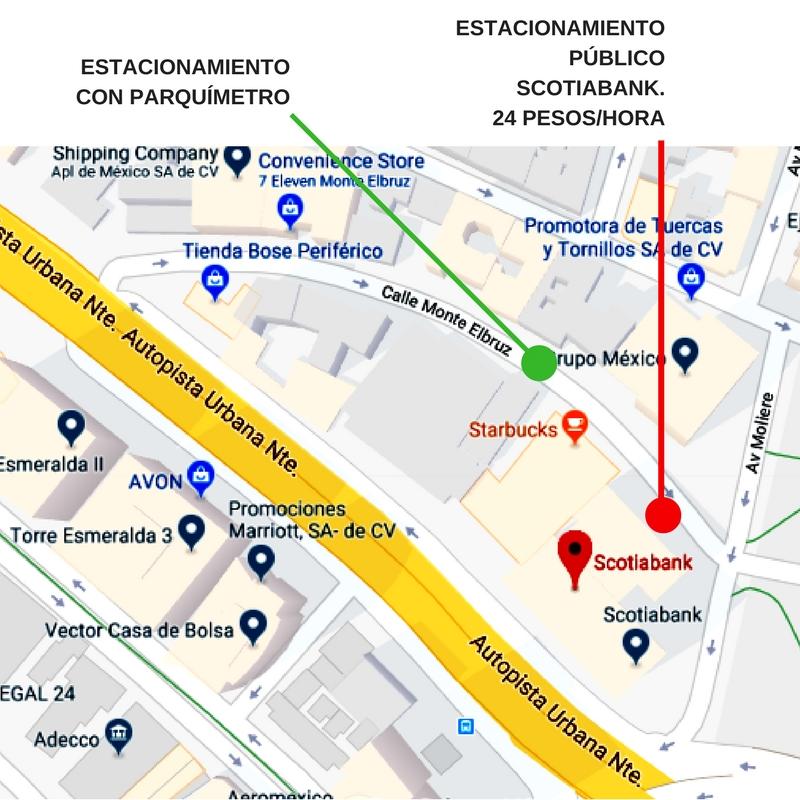 mapa de estacionamiento