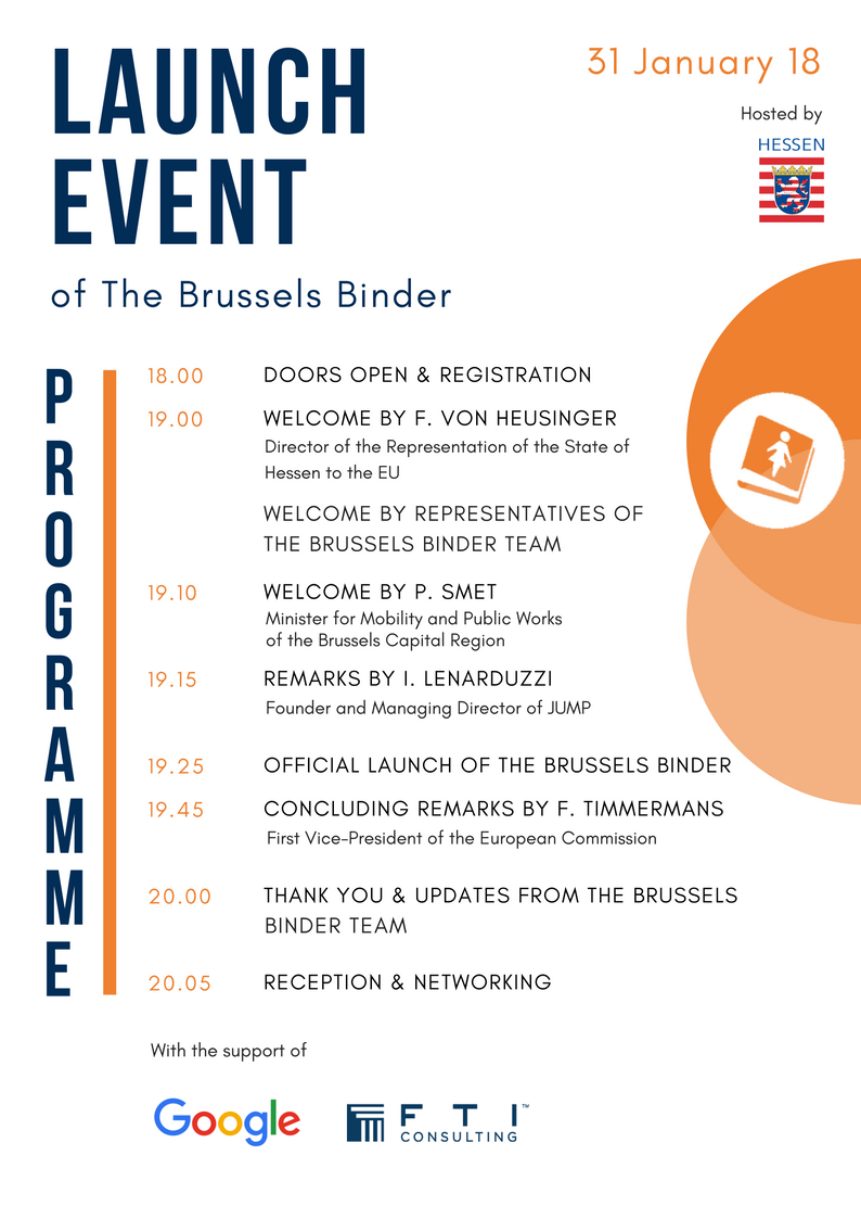 Full programme of the Brussels Binder Launch Event