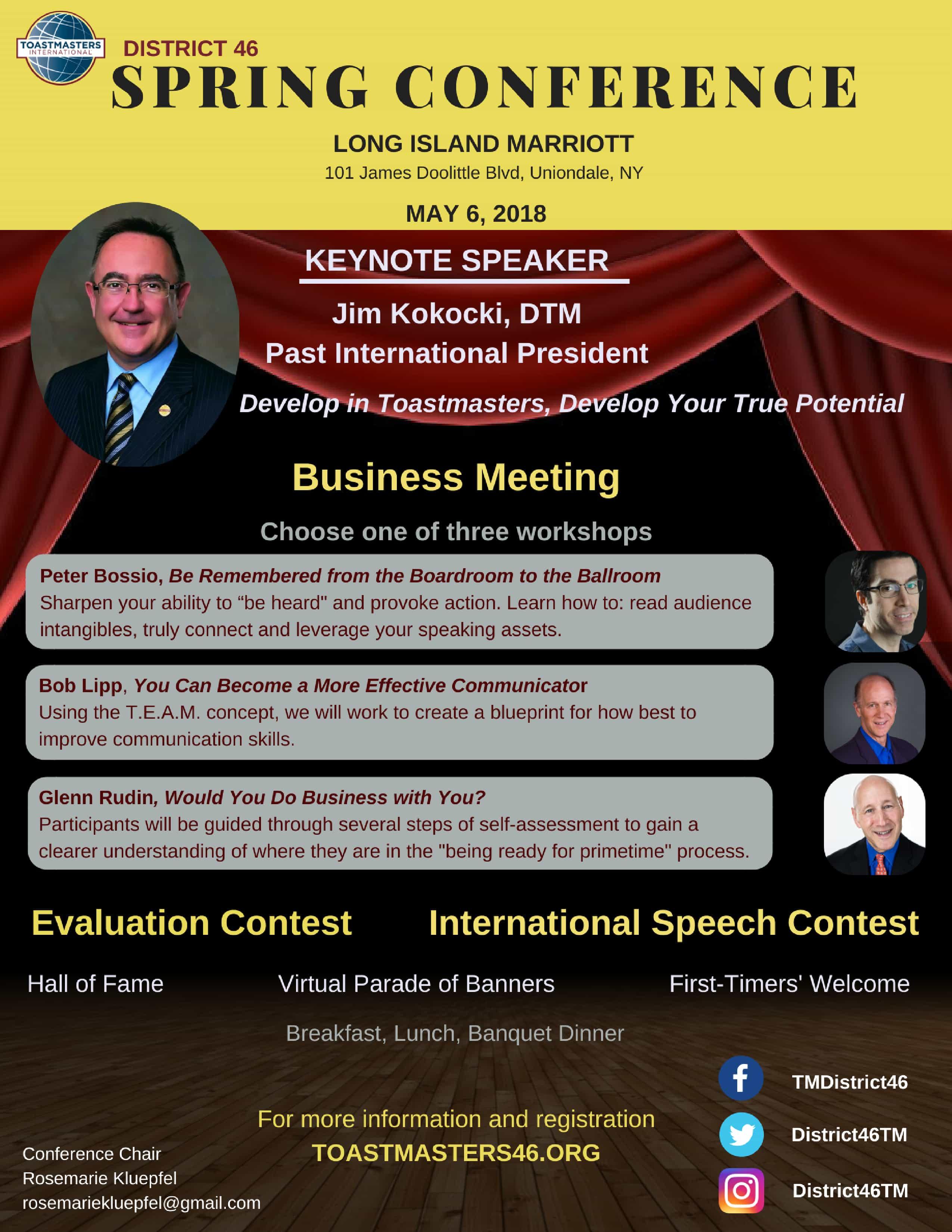 Spring Conference Flyer