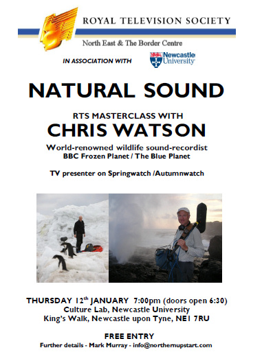 Chris Watson Event flier