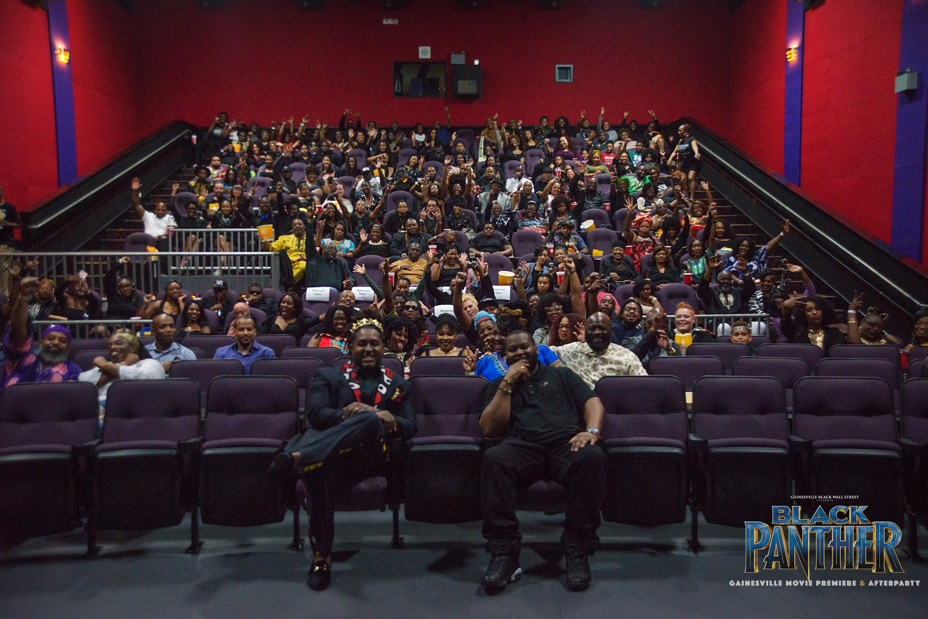 Black Panther Movie Private Screening by Gainesville Black Wall Street
