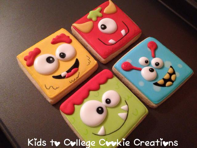 Decorated Sugar Cookies - Kids to College Cookie Creations