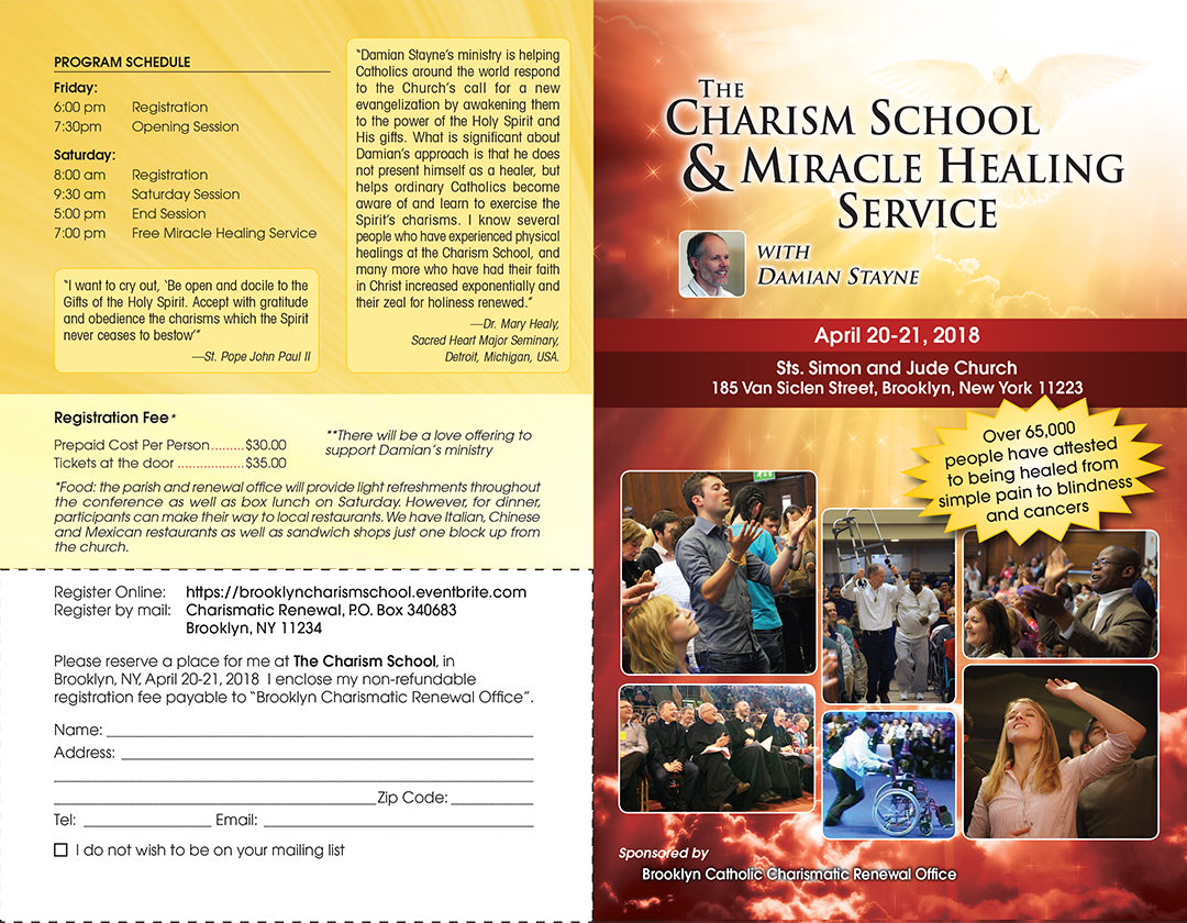The Charism School brochure page 1
