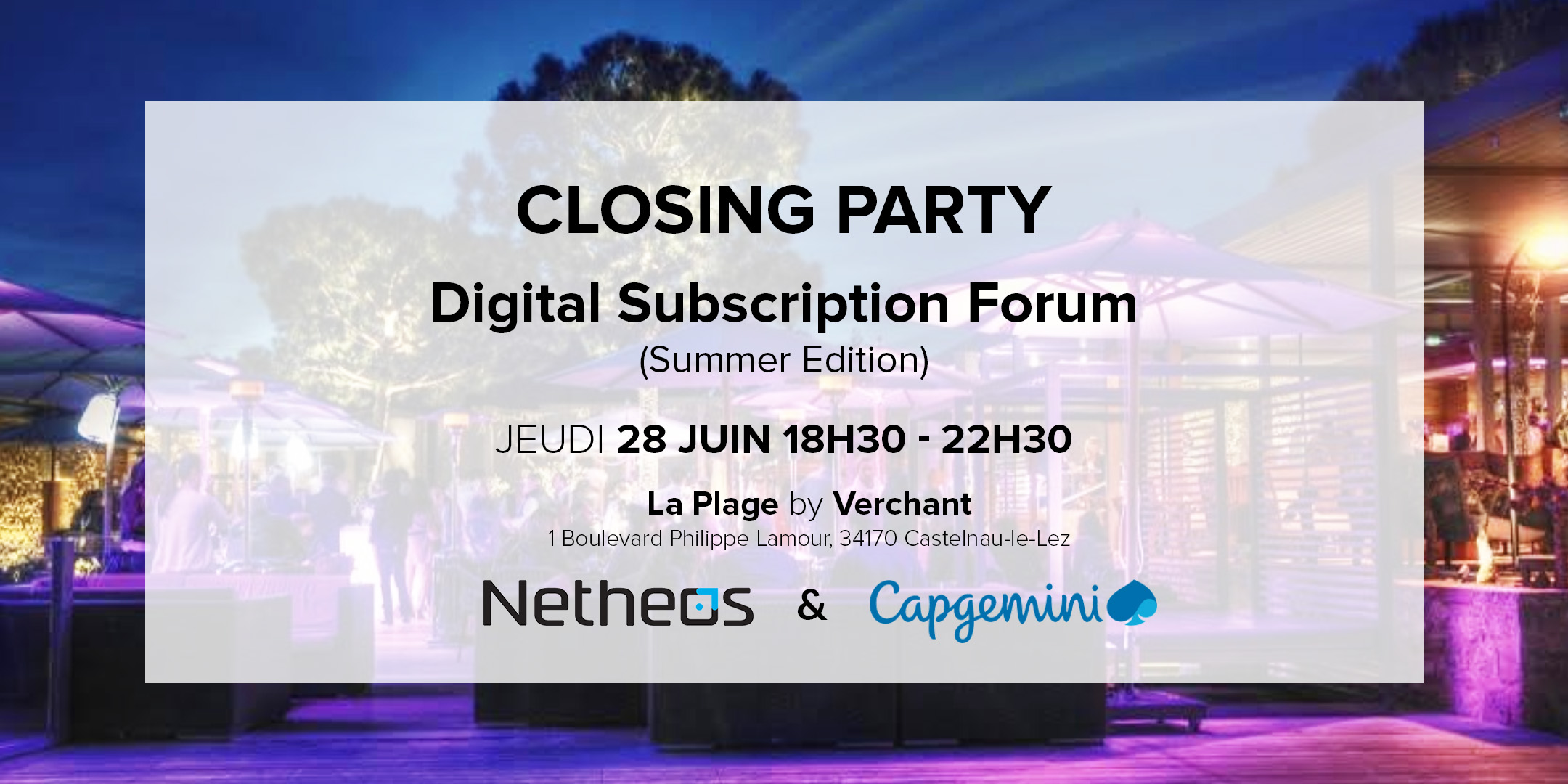 CLOSING PARTY - Digital Subscription Forum (Summer Edition)