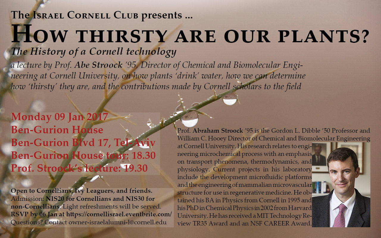 How thirsty are our plants? The History of a Cornell technology