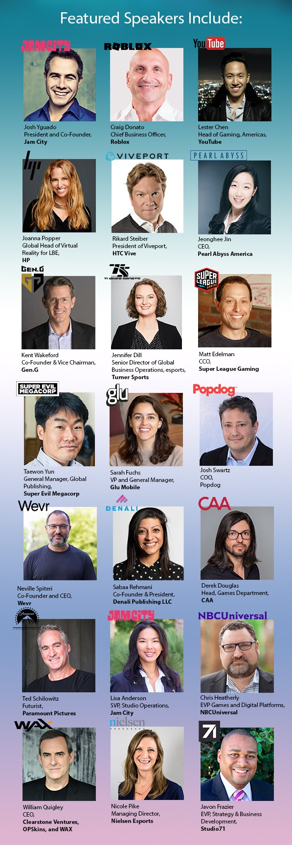 LAGC 2019 Featured Speakers