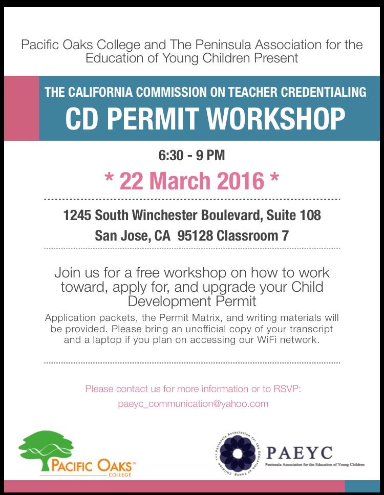 CD Permit Workshop
