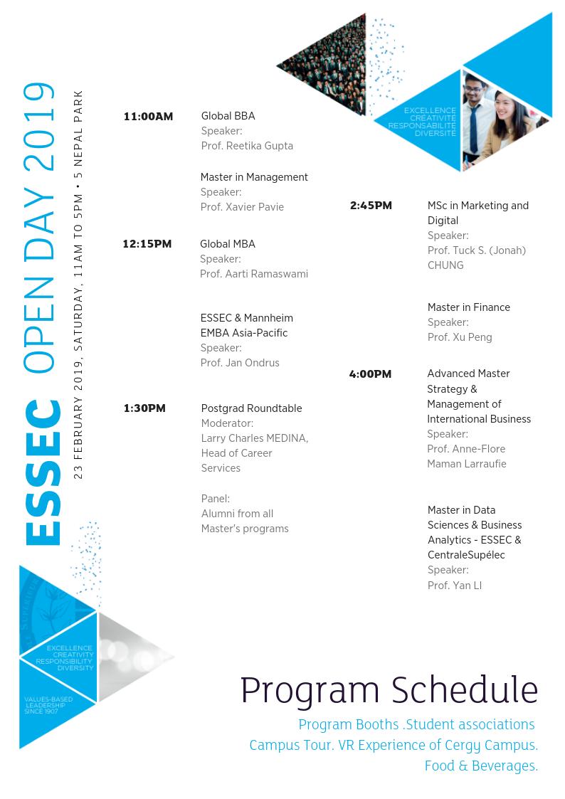Program Schedule Page 1
