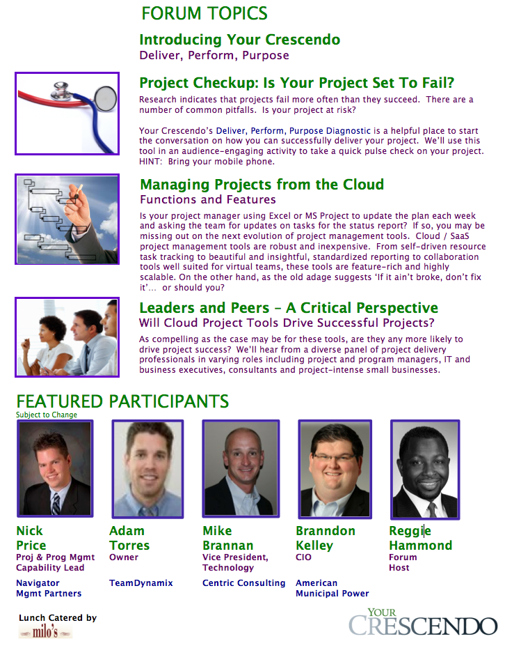 Managing Projects from the Clouds - Columbus Panel