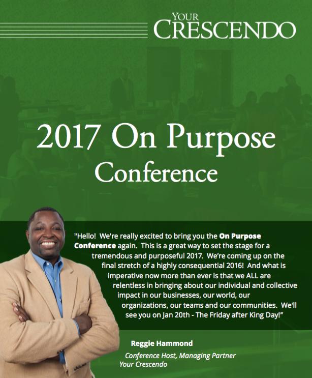 2017 On Purpose Invitation - Note from Reggie